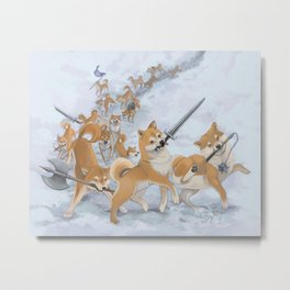 Cry Heckin' and Let Slip the Doges of War Metal Print