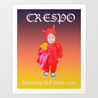 tina crespo Art Prints featuring Crespo by W.R. Buhler