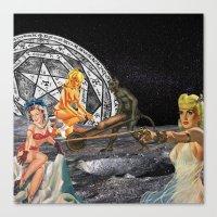 pagan Canvas Prints featuring Pagan Circle by Marina Poison