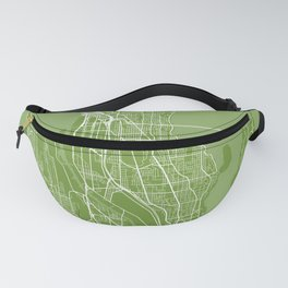 seattle city map color Fanny Pack
