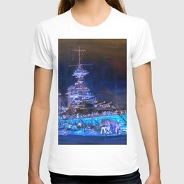 """Charles William Wyllie """"Princess Royal in dry dock after the Jutland battle"""" T-shirt"""