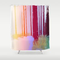 forrest Shower Curtains featuring Color Forrest by Darla Designs