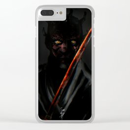 Katana Maul Clear iPhone Case