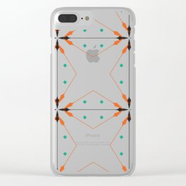 SEAMLESS DAMASK Abstract Art Clear iPhone Case