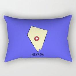 Nevada State Heart Rectangular Pillow