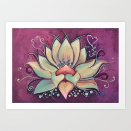 Blooming Lotus Art Print