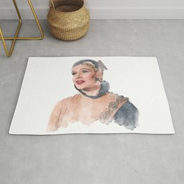 Lina Lamont - Jean Hagen - Singin' in the Rain - Watercolor Rug