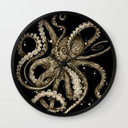 Octopsychedelia Sepia Wall Clock