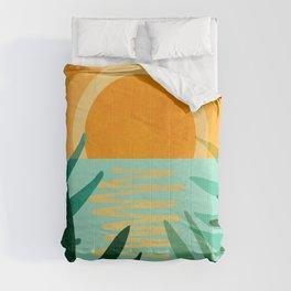 Peaceful Tropics / Sunset Landscape Comforters