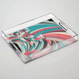 Chaos And Order Acrylic Tray