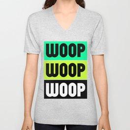 Woop Woop Woop (Raver) Unisex V-Neck