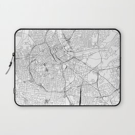 Nashville White Map Laptop Sleeve