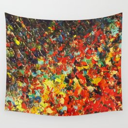 END OF THE RAINBOW - Bold Multicolor Abstract Colorful Nature Inspired Sunrise Sunset Ocean Theme Wall Tapestry