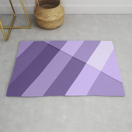 Ultra violet purple modern geometric lines Rug