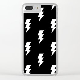 BOLT ((white on black)) Clear iPhone Case