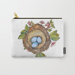 Bird nest Spring watercolor Carry-All Pouch