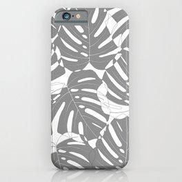 Monstera deliciosa Minimalistic black and white iPhone Case