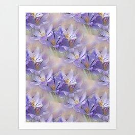 flowers -3- seamless pattern Art Print