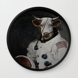 The Cow That Jumped Over the MOOn Wall Clock