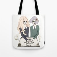 ouija Tote Bags featuring Ouija by Bunny Miele
