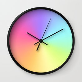 Rainbow Swirl Art Unicorn Colours Digital Art Wall Clock