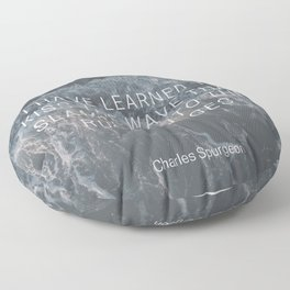 Kiss the Wave - Rock of Ages Floor Pillow