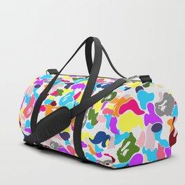 B APE colorful pattern Duffle Bag