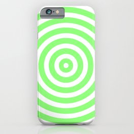 Circles (Light Green & White Pattern) iPhone Case