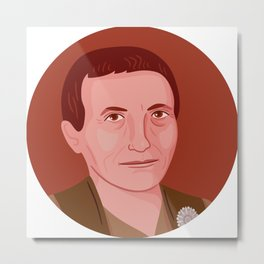 Queer Portrait - Gertrude Stein Metal Print
