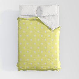 Butter Yellow Polka Dots Comforters