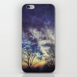 Contrail Sunset iPhone Skin