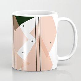 Mid Century Modern Rain Dance- Salmon, Black, and White Coffee Mug