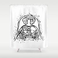 vader Shower Curtains featuring Vader by Julia Bruggeman