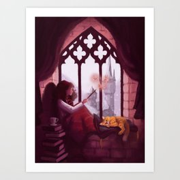 Hermione Reading Art Print
