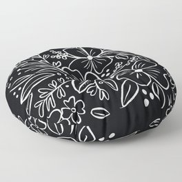 Chalk Florals Floor Pillow