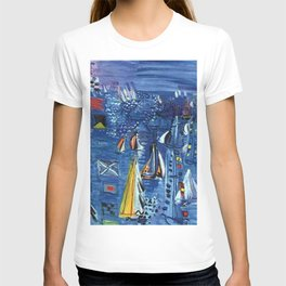 Isle of Wight, Regatta at Cowes seascape nautical painting by Raoul Dufy T-shirt