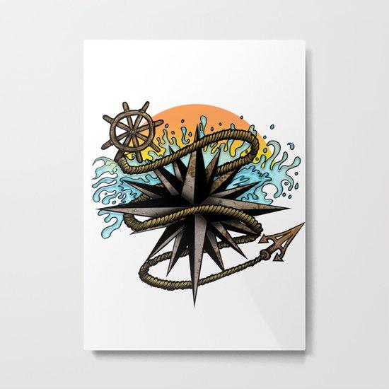 Nautical Splash Metal Print