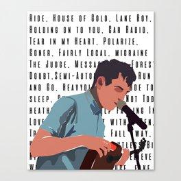 Tyler Joseph Songs Canvas Print