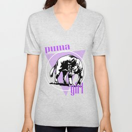 Puma, Panther, Pet For Puma Girls Unisex V-Neck