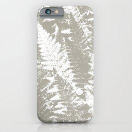 Gray Ferns Photo Art Print Pattern iPhone Case
