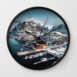 reine at landscape Wall Clock