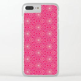 Pink Chrysanthemum Print Clear iPhone Case