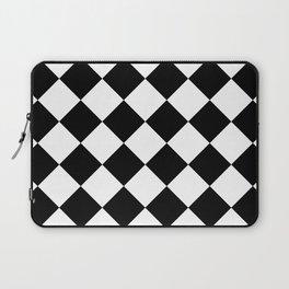 Large Diamonds - White and Black Laptop Sleeve