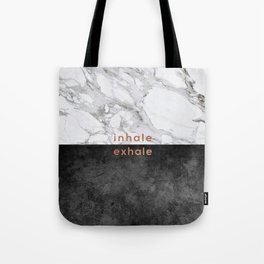 Inhale Exhale, Yoga Quote Tote Bag