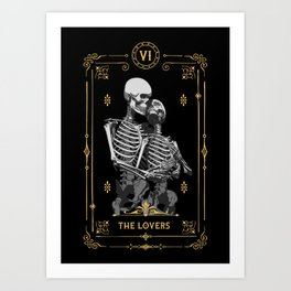 The Lovers VI Tarot Card Kunstdrucke