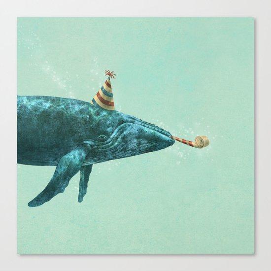 Party Whale - colour option  Canvas Print