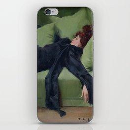 A DECADENT GIRL - RAMON CASAS iPhone Skin