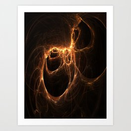 Scars Left by Flames Art Print