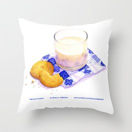 Milk & Cookies Throw Pillow