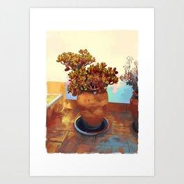 Seville Pots 2 Art Print